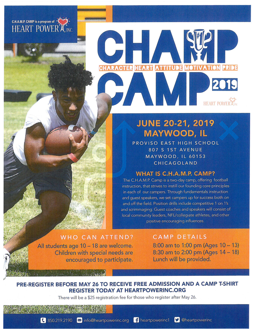 Champ Camp Summer Program for Young People